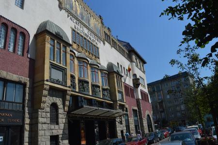 Palatul Culturii din Târgu Mureș - Fațadă