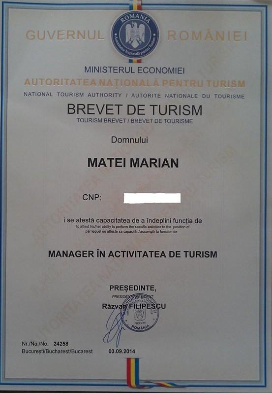 cum să obții brevetul de turism