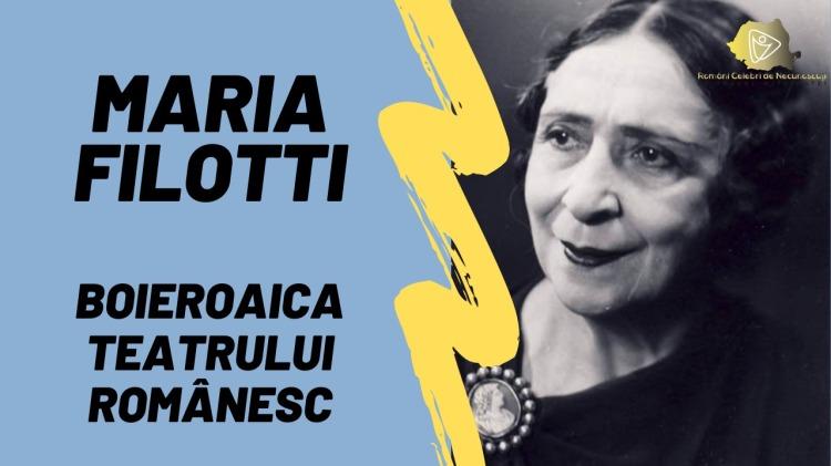 Maria Filotti Boieroaica Teatrului Românesc
